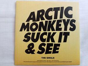 Arctic Monkeys - Suck It & See (Cd Single) Promo