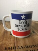 DON'T MESS WITH TEXAS Classic Logo Coffee Tea Mug, Vintage Ceramic Cup
