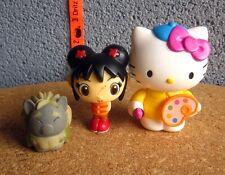 HELLO KITTY as Artist figure w/ Ni Hao Kai-Lan & monster Asian anime lot