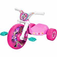 Kids Tricycle Bike Disney Minnie Mouse Fly Wheel Cruiser Pink Kids Toddler Sound