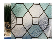 """Green Leaded Glass Static Cling Window Film, 36"""" Wide x 1 yd. Sold by the yard"""