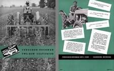 Ford Tractor Ferguson-Sherman Two-Row Cultivator Brochure