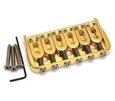 """Hipshot Gold Fixed Hardtail Guitar Bridge .125"""" Floor Height 41060G"""