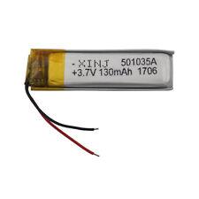 501035 3.7V 130 mAh Polymer Li ion Lithium cell LiPo For Glasses Headset Pen