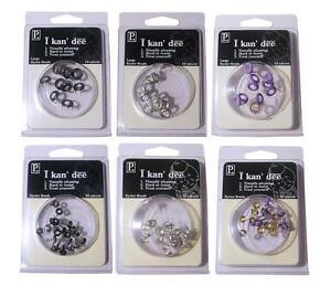 Pebbles inc EYELET BRADS No Setter Req -Large/Small - Card Making/Scrapbooking