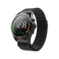 Smartwatch Wasserdicht Sportuhr Pulsuhr Handy Fitness Tracker IP68 Schwarz