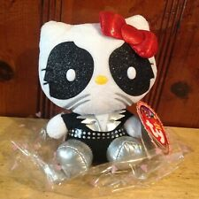"Kiss / Hello Kitty ~ 6"" Plush Catman / Peter Criss ~ New w/Tags ~ Ty Beanie Baby"