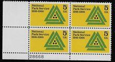 US Scott #1314, Plate Block #28668 1966 National Park 5c FVF MNH Lower Left