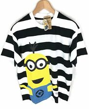 Chocoolate X Minions Striped Cotton T-Shirt Tee - Small - RRP £55 - New
