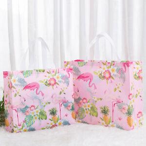 New Non-woven Fabric Flamingo Shopping Bag Reusable Pouch Travel Storage Handbag