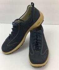 ECCO Womens Eu40 US 9.5 Blue Suede Shoe Lace Up Casual Fashion Sneaker
