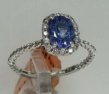 14k white gold gemstones tanzanite and diamonds. Great value. Designed by big A
