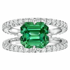 Creative 925 Silver Party Rings For Women Emerald Rings Jewelry Size 7