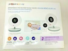 "Project Nursery -Baby Monitor with 2 Cameras and 4.3"" Screen Model: Pnm4N12 Used"