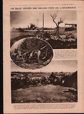 WWI Poilus Artillerie Tranchées Langemark-Poelkapelle Belgique 1918 ILLUSTRATION