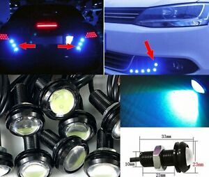 8K Ice Blue 10x 5W COB LED DRL Puddle light Under Car Bumper projector DJC A