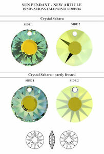 Genuine SWAROVSKI 6724 Crystal Sun Pendant * All Sizes & Colors