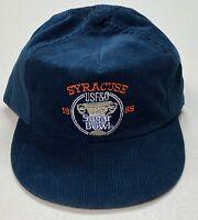 1988 Syracuse Orange Football Corduroy Sugar Bowl Blue Snapback Hat Vintage