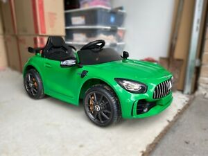 AMG Kids Electric Ride-on 4 wheels green car 12V (secondhand)