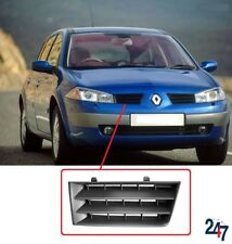 NEW RENAULT MEGANE 05 - 08 FRONT BUMPER GRILL SUPERIOR BLACK PLASTIC RIGHT O/S