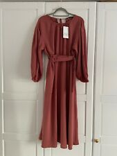 Zara Women's Midi Dress With Belt SIZE EXTRA LARGE BRAND NEW