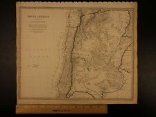 1844 BEAUTIFUL Huge Color MAP of South America Chile Patagonia Argentina ATLAS