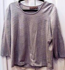 CROFT & BARROW Large Pullover Blouse-Grey Embellished-Long Sleeves