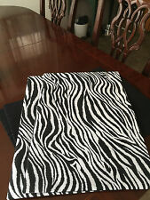 Black & White Zebra Animal Print Cotton (sold separately) Placemats-ThemeRunners