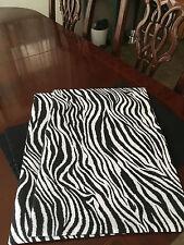Black & White Zebra Animal Print Cotton Set of Four (4) Placemats byThemeRunners