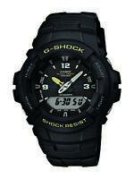 Casio G-Shock Men's Quartz Anti-Magnetic Black Resin Band 48mm Watch G100-9CM