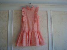 NWT $128  Janie And Jack Girls Eyelet Ruffle Dress  8