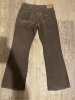 Levis Corduroy Vintage Pants 1980's 517 Brown Cords Levi Strauss USA  36X32