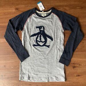 Boys Penguin junior Shirt Size 14-16 Long Sleeve NWT