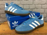 ADIDAS OG MENS UK 10 EU 44 2/3 HANDBALL SPEZIAL BLUE SUEDE GUM SOLE TRAINERS  LB