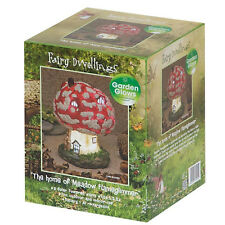 Garden Glows Solar Powered LED Fairy House Ornament Toadstool Flameglimmer