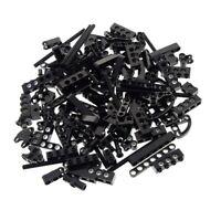 100 Lego Technic Teile schwarz 130 g z.B. Loch Balken Achs Pin Verbinder Liftarm
