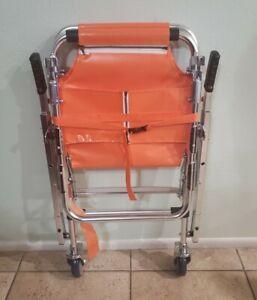 LINE2design Stair Chair - EMS Medical Emergency Evacuation 2 Wheel Lift - Orange