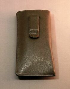 Premium Leather Eyeglass / Glasses Case with CLIP - Various Colors