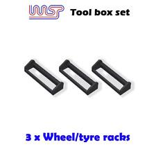 Circuit Routier Électrique Garage Pit Paysage - Roue Pneu Rack X 3 Noir 1:3 2