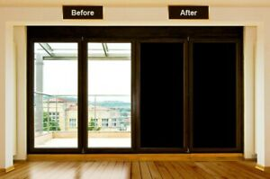 Blackout Static Cling Tint Window Film For Privacy To Block Sun UV Protection US
