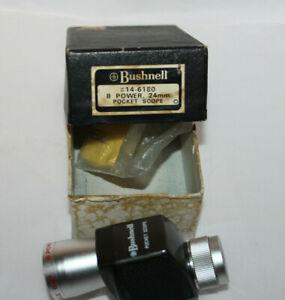 Vintage Bushnell 8 Power 24 mm Pocket Scope/ Monocular/ Original box