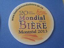 Mondial de la Bière - Montreal 2013 - Beer Coaster