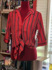 Women's Haute Monde Red top Size Small. NWT.