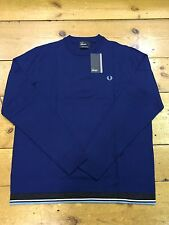 Fred Perry Bold Crew Neck K3206 Medieval Blue - XX Large