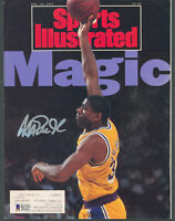 Lakers Magic Johnson Signed November 1991 Sports Illustrated Magazine BAS Wit