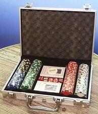 Poker SET DELUXE mit 200 CHIPS im ALUMINIUM-KOFFER Casino Jetons       79-3980