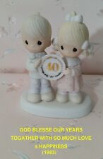 Precious Moments Figurines:God Blesse Our Years Togather With So Much Love