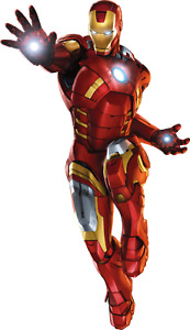 Iron Man Marvel Avengers 3d View Wall Sticker Removable Children Bedroom Vinyl