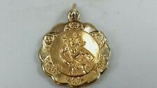 9CT GOLD ST CHRISTOPHER PENDANT 1.5 G