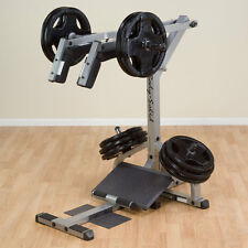 Body-Solid GSCL360 Leverage Squat and Calf Machine - Plate Loaded Leg Exercise